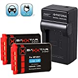 SET pour batterie Sony NP-BX1 avec chargeur + batterie 2x Baxxtar PRO (véritable 1090mAh) pour Sony NP-BX1 pour Sony CyberShot DSC RX100 RX100 II RX100 III RX100 IV M4 RX1 RX1r HX50 HX50V HX60 HX60V HX80 HX80V HX90 HX90V ... et tous les autres, avec la batterie d'origine Sony NP-BX1