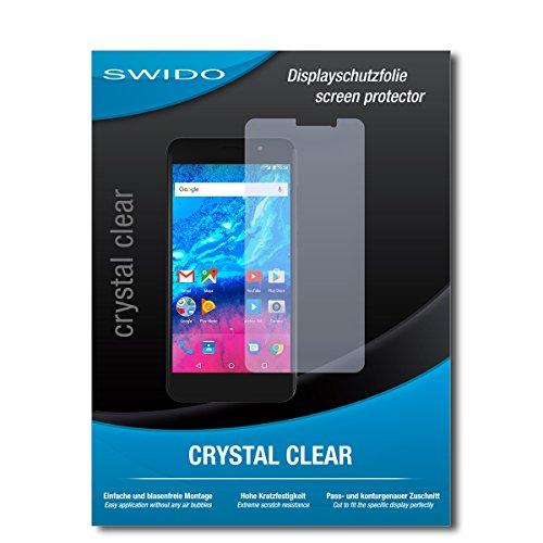 SWIDO Bildschirmschutz für Archos Core 55P [4 Stück] Kristall-Klar, Hoher Härtegrad, Schutz vor Öl, Staub & Kratzer/Schutzfolie, Bildschirmschutzfolie, Panzerglas Folie