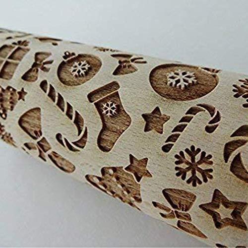 aus Holz, mit Gravur, geschnitzt, geprägt, Küchenwerkzeug D:43x5cm ()