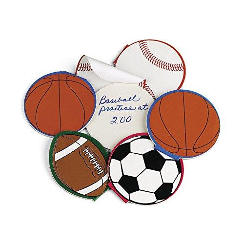 Notizblöcke mit Fussball Basketball Football und Baseball 24 Stück Notizzettel Mitgebsel Gastgeschenk Palandi® -