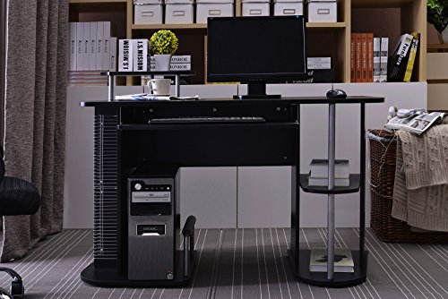 Cheap SixBros. Computer Desk – PC Workstation – Office Desk – Black – S-104/2082 on Amazon