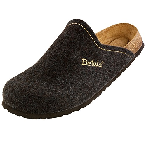 Betula House Unisex-Erwachsene Clogs stitching brown (122203)