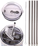 4 LONG Stainless Steel Straws Mossy Oak 30-Ounce Double Wall Stainless Steel Mug - CocoStraw Brand Drinking Straw (4 WIDE straws + Straw Lid)