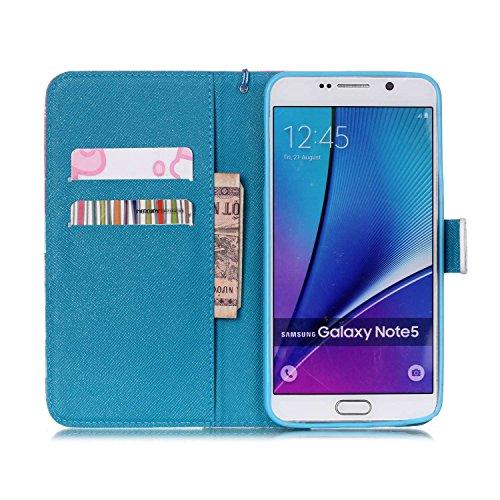 Meet de Samsung Galaxy Note 5 N920i Bookstyle Étui Housse étui coque Case Cover smart flip cuir Case à rabat pour Galaxy Note 5 Coque de protection Portefeuille - this iphone is locked slide to unloke Snow Mountain