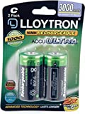 Lloytron C 3000mAh NIMH AccuUltra Battery (Pack of 2)
