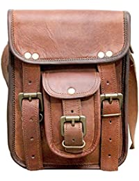 ECHO Genuine Leather Messenger Bag Cum Laptop Bag 7x9 Inches