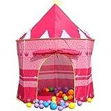 Castello Tenda Pop Up per Bambini Principe Principessa + Borsa da Trasporto , da Interno ed Esterno (Rosa) immagine