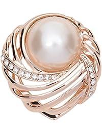 sewanz Damen Gold Ton Conch Perle mit Metallic Schals Schnalle, multi-uses Seide Schal Clip Brosche