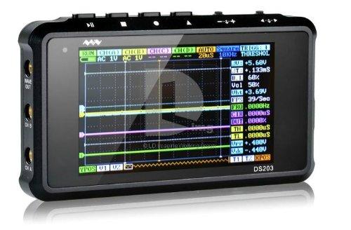 Produktabbildung von tinxi® Mini Pocket Digital Oszilloskop DSO203 DSO 203 Oscilloscope 4 Kanal Quad inkl. deutsche Anleitung