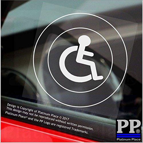 Braune Quadratische Umschläge (1x Behinderte Logo only-round-window sticker-sign, Auto, Badge, Hinweis, Achtung, Rollstuhl, Treiber, Kind, Behinderungen, Rampe, Zugriff, blau, Badge, ich, bin, Person)