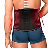 TURBO Med orthopädischer Rückenstützgürtel mit 4 Lumbalstützen bei Rückenschmerzen Überlastung Hexenschuss SCHWARZ Gr. S TM825-S9