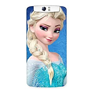 Gorgeous Premier Princess Wink Multicolor Back Case Cover for Oppo N1