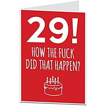 Happy 29th Birthday Chocolate Greeting Card Amazon Grocery