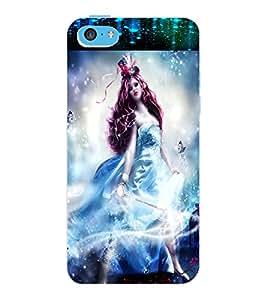 ColourCraft Fantasy Girl Design Back Case Cover for APPLE IPHONE 5C