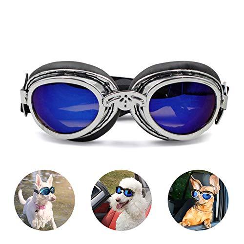 YSYDE Sonnenbrille für kleine, mittelgroße Hunde Brille Puppy Eyewear Winddichter UV-Schutz Tierarzt Empfohlener Augenschutz, der an jeden Kopftyp angepasst Werden kann