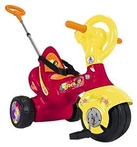 INJUSA - Triciclo para niños, diseño de Dora la exploradora, color rojo y amarillo (3201)