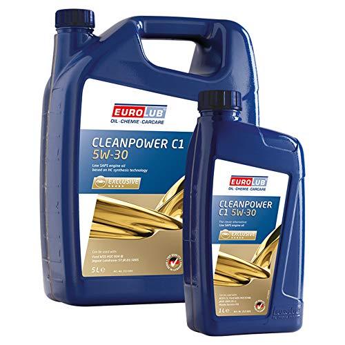 Eurolub Motoröl 5W-30 Cleanpower C1 Diesel Dieselpartikelfilter 1X 5L + 1X 1L