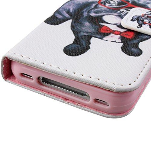 Felfy Iphone 6 Plus Custodia Cover, Elegante Borsa Magnetico Portafoglio PU Pelle Flip Custodia Protettiva Case Cover Protezione Chiusura Ventosa (Torta) per Apple Iphone 6 Plus + 1x Stilo Penna + 1x  Moda Cane