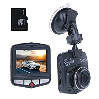 Car Camera Dash Cam by Lanka Full HD 1080P in Car Dashboard Camera with 32GB sd Card, Vehicle Dash Cams with G-Sensor,Loop Recording