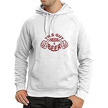 Sudadera con capucha Este individuo necesita una cerveza - regalos para los amantes de la cerveza
