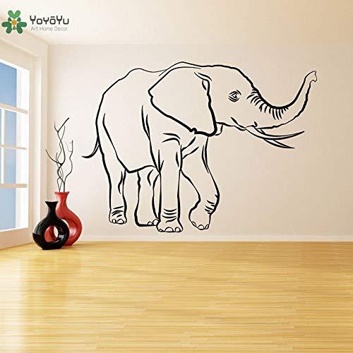 ganlanshu Vinyl Wand Applique Dekoration Elefant Glück Kofferraum Reichtum Heilige Trompete Tier Kunst bewegliches Plakat 75cmX104cm