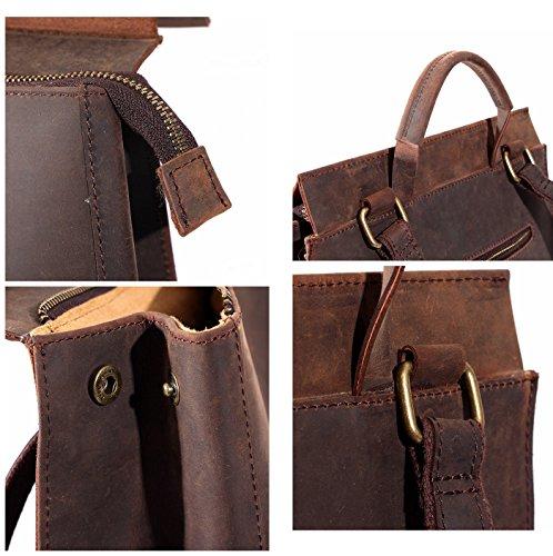 Vera pelle vintage donne ¡¯ s zaino retro zaino scuola College bag 27,9x 34,8x 12,4cm Brown