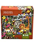 Jaques of London JUNGLE FRIENDS jigsaw puzzle for kids - 50 piece Jigsaw puzzle for children - recommended puzzle for 3 4 5 6 year olds