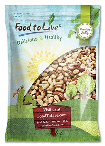Food to Live Paranüsse (Ganz, Geschält, Roh, Ohne Salz, Natürliche) (44 Pfund)