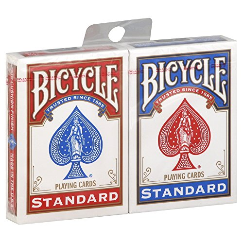 2-nuovi-mazzi-di-carte-e-sigillato-in-bicicletta-gioco-1-rosso-e-1-blu-2-new-sealed-decks-of-bicycle