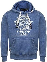 Tokyo Laundry - Sweat-shirt à capuche - Asymétrique - Manches Longues -  Homme L bca3d2a872bc