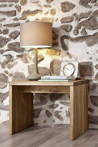 Table de nuit - Bois massif de chêne sauvage huilé - Design rustique - JANGALI #114