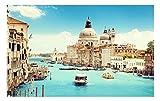 BGRWE Beibehang Paisaje arquitectónico Fondo de Pantalla Moderno de Venecia para Paredes Mural de Pared 3 D Papel de Parede Foto Rollo de Papel de Pared, TE8U8Re1-t 300x210 cm (118.1 por 82.7 in)