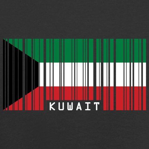 Kuwait Barcode Flagge - Herren T-Shirt - 13 Farben Schwarz