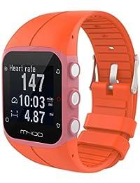 tpulling Polar M400pulsera de silicona Nuevo tipo de y suave de silicona de goma reloj de pulsera de correa de mano, Wassermelone Rot