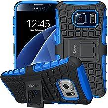 """Funda Galaxy S6, ykooe Samsung S6 Teléfono Híbrida de Doble Capa con Soporte Carcasa para Samsung Galaxy S6 5,1"""""""