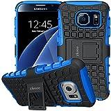 Funda Galaxy S6, ykooe Samsung S6 Teléfono Híbrida de Doble Capa con Soporte Carcasa para Samsung...