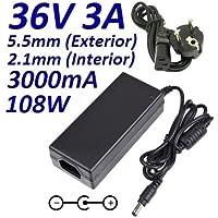 Cargador Corriente 36V 3A 3000mA 5.5mm 2.1mm 108W