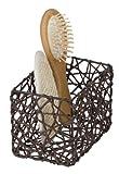 Wenko Curly - Cesta para el baño y el hoga de celulosa, 15 x 11 x 10.5 cm, Color marrón