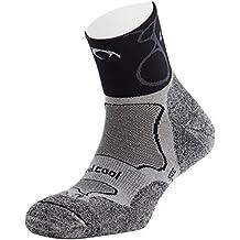 Lurbel Track Chaussettes Noir FR : chaussettes : 43-46 (Taille Fabricant : L)