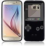 Etui de créateur pour Samsung Galaxy S7 EDGE - Etui / Coque / Housse de protection noir en TPU/gel/silicone avec motif cool gameboy couleur