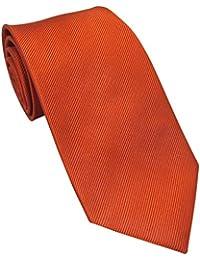 Plain Burnt Orange Silk Tie