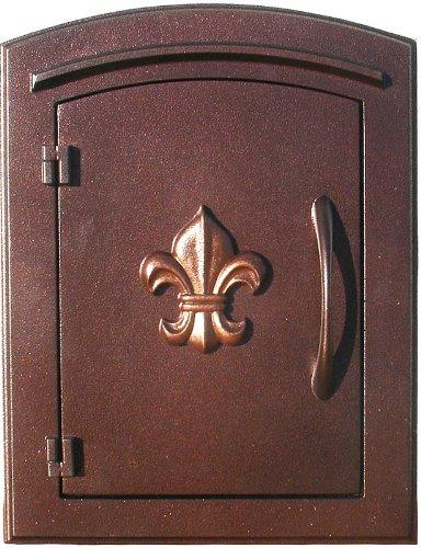 qualarc man-1402-ac Manchester Colonna in alluminio mailbox