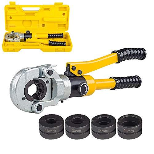 HKMA Tuyau hydraulique Outils de sertissage, Pex avec TH en appuyant sur l'outil Dents de la mer 16-32mm avec poignée pour Extendable cuivre, Aluminium, Plastique, PB Tuyau Pression sur Plomberie