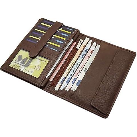 Cuero de búfalo gran billetera MJ-Design-Germany en diferentes colores