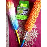 Truvic Home Market Combo of Multipurpose Microfiber Duster with Static Duster and Mitt Gloves Cleaning Kit