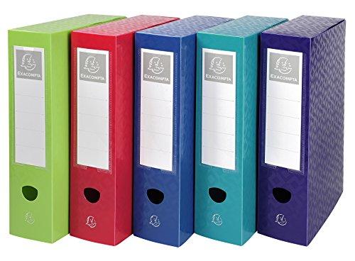 Offix 59720e a4pp scatola per archivio con bottone automatico–multicolore (confezione da 6)
