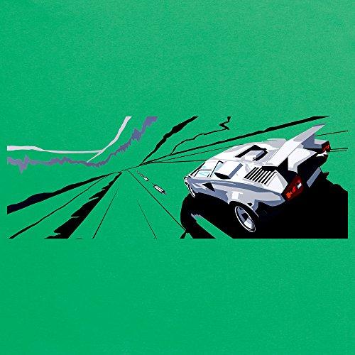Speed Icons Countach 5000 QV T-Shirt, Herren Keltisch-Grn