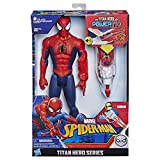 Marvel Spider-Man - Figurine Spider-Man Titan Power FX - Spider-Man et Power Pack - 30 cm - Parle en français - Jouet Spider-Man