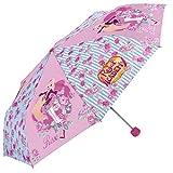 Perletti Parapluie Regal Academy: L'Académie royale pliant pour fille et fillette - Ouverture manuelle - Rose