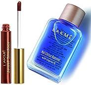 Lakme Jewel Sindoor, Maroon, 4.5ml & Lakmé Nail Color Remover, 27ml
